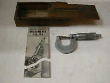 Vintage Brown Amp Sharpe 13 Outside Micrometer Caliper 1