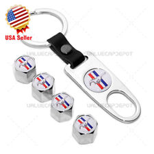 Car Wheels Tire Valve Dust Stems Air Caps With Keychain Ring Mustang Logo Emblem