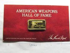 US COLT 45 AUTOMATIC 1911 PISTOL GUN SILVER GOLD BAR LINCOLN MINT RARE COOL # Z