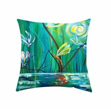 """Dragonfly Cotton Cushion Cover Square Waist Pillow Home Sofa Case Classy 16"""""""