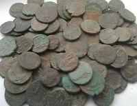 Lot 2 original Ancient Roman imperial coins Constantine I 337AD & Constantius II