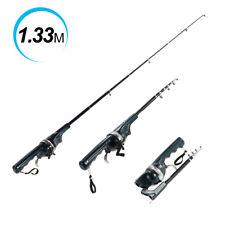 Mini Folding Rod Telescopic Pole Portable Fishing Rod Reel With Line Us I2D3
