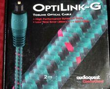Audioquest OptiLink-G 2 meter Digital Toslink Optical Cable CinemaQuest NIB