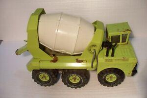 Vintage 70's Era Mighty Tonka Ready Mixer Cement Truck Lime Green