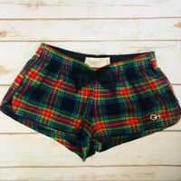 Hollister Gilly Plaid Flannel Sleep Shorts XS NEW