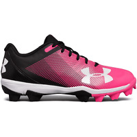 Under Armour Leadoff Low RM Jr. Cleats Baseball Shoes Pink Black Whit Sz 4 Youth