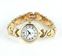 Fossil Womens F2 Watch ES-8801 Round Dial Roman Numerals Silver Tone MOP