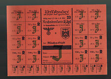 1940 Original Germany WW 2 Food Rations Coupon Munich Bread