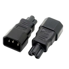 2pcs 3 pin Plug Convertor IEC 320 C14 to C5 Female Power Industrial Plug Adapter