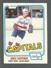1981-82 OPC O-Pee-Chee Hockey Mike Gartner #347 Rookie RC Capitals NM/MT