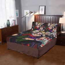 Hot New Custom Joker Harley Quinn Duvet Cover Pillowcase 3-Pieces Bedding Set