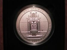 2010-P NP1 HOT SPRINGS AMERICA THE BEAUTIFUL 5oz SILVER COIN