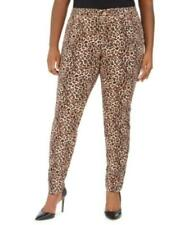 MSRP $90 I.n.c. Plus Size Leopard-Print Skinny Jeans Size 14W