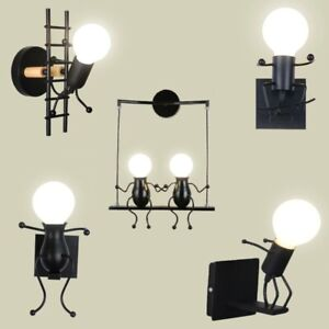 Wall Light Chandelier Wall Lamp Lights LED Lamp Creative Mounted Iron Baby Room