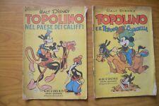 LOTTO FUMETTI topolino WALT DISNEY ALBO D' ORO numeri  10 15 prima ristampa 1950