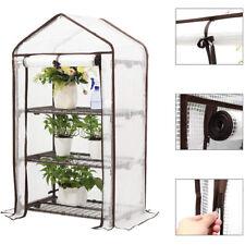 140g/m² Gewächshaus Folie Treibhaus 3 Etagen mit Rollen Balkon Tomaten Frühbeet