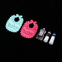 1:12 Dollhouse Miniature Baby Bibs, Bottles & Shampoo Nursery Room Supplies