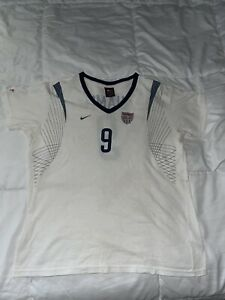 """Vintage Mia Hamm #9 Team USA Nike Jersey T-Shirt Women's Size: Large """"Pre-Owned"""""""