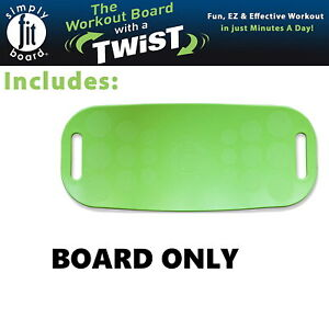 Simply Fit Board The Workout Balance Board with a Twist, As Seen on TV, LIME
