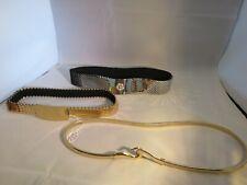 3 Vintage Metal Belts