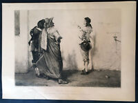 1858 The Art Journal Original Antique Print of Oliver Cromwell, John Pettie 1879