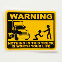 Don't Touch My Truck Funny Sticker Vinyl Decal Car Van Bumper Window Warning Fun