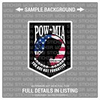 Decal Sticker Vinyl - POW MIA American Flag (x2) 3x4 - USA