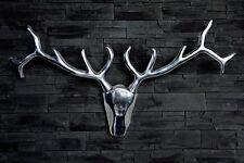 Geweih Alu Wanddekoration HIRSCH 90cm Aluminium Design Accessoir Deko NEU