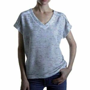 JONES New York Women's V-Neck Short Sleeve Casual Blouse 1400364