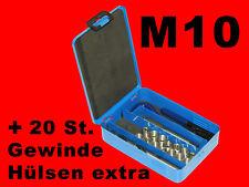 M10 HSS-G Profi Gewinde Reparatur Werkzeug Helicoil inkl. 45 Gewindehülsen B1955