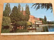Old Postcard of The Royal Shakespeare Theatre & River Avon Stratford