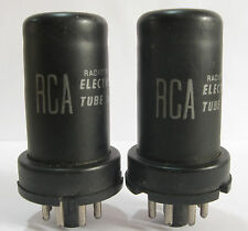 2 matched 1958 RCA 6SC7 tubes - TV7D tested @ 45/47, 46/49, min:25/25