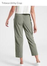NEW ATHLETA Tribeca Utility Crop 8 (Medium) Laurel Olive Green | Pants ~ Size 8T