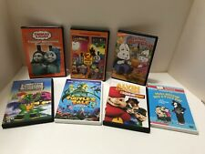 Lot of 7 Children's DVDs Thomas the Train, Max & Ruby, Chipmunks, Franklin
