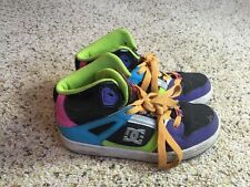 DC Boy's Shoes Rebound 302676B Multi Color Skateboard Sneakers Size 4 Kd1