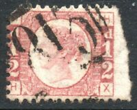 1878 Sg 48 ½d Rose-red 'HX' Plate 19 with Duplex Cancellation Used