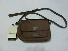 Baggallini Crossbody Mini Brown Nylon Adjustable Strap Diana Mini Uptown