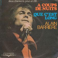 """Alain Barrière 7"""" A Coups De Nuits - France (VG+/EX)"""