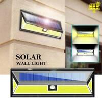 1000LM 180 COB LED Solar Garden Wall Light Security Outdoor Lamp Motion Sensor