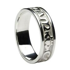Sterling Silver MO ANAM CARA Wedding Ring My Soulmate Band by Boru various sizes