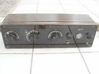 1920's Cresodyne Battery Type Receiver Blandin AAA Radio Cabinet no tubes