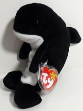 """TY Beanie Babies """"WAVES"""" Orca Whale - MWMTs! RETIRED LONG TIME AGO! GREAT GIFT!"""