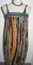 Jolie robe JAUNE ROUGE léopard taille L / Dress