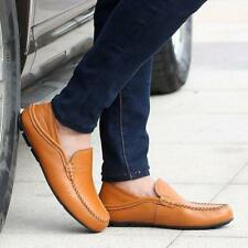 Mens Driving Moccasins Slip On Loafers Casual Sneakers Leather Fashion Shoes BS