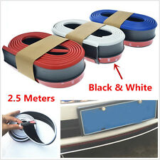 2.5M Car Front Bumper Skirts Strip Lip Spoiler Chin Rubber Protector Car Styling