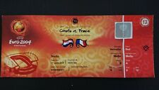 EURO 2004 FRANCE CROATIE TICKET N 12 COLLECTION UEFA CROATIA PORTUGAL