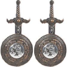 2 x Silber/Bronze Ritter Set Kinder Bulle Ritterset Römer Legionär Mittelalter