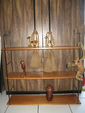 MID CENTURY DANISH MODERN STRING REGAL SHELF 3 BÖDEN 2 LEITERN + TEAK DEKO  60s