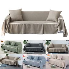 Cotton Blend Slipcover Chair Sofa Cover Protector for 1 2 3 4 Seater Couch Cover