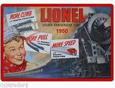 1950 Lionel Train Toy Ad Golden Anniversary Refrigerator Magnet